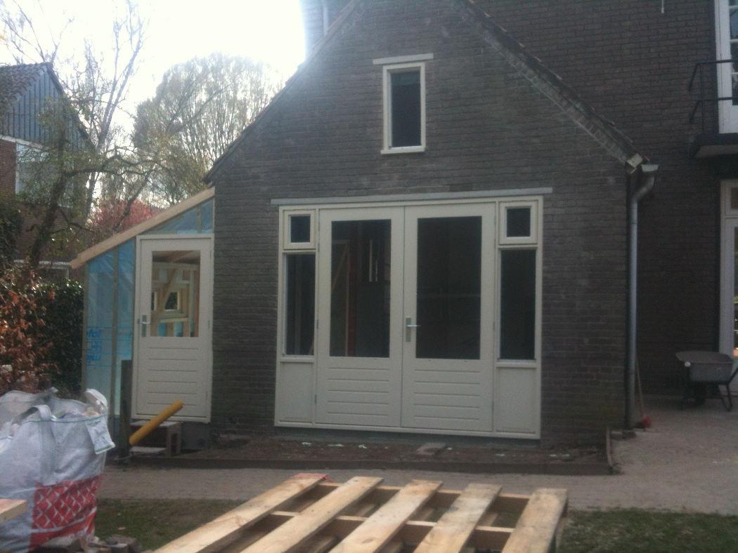 Aanbouw met tuindeuren in Wageningen