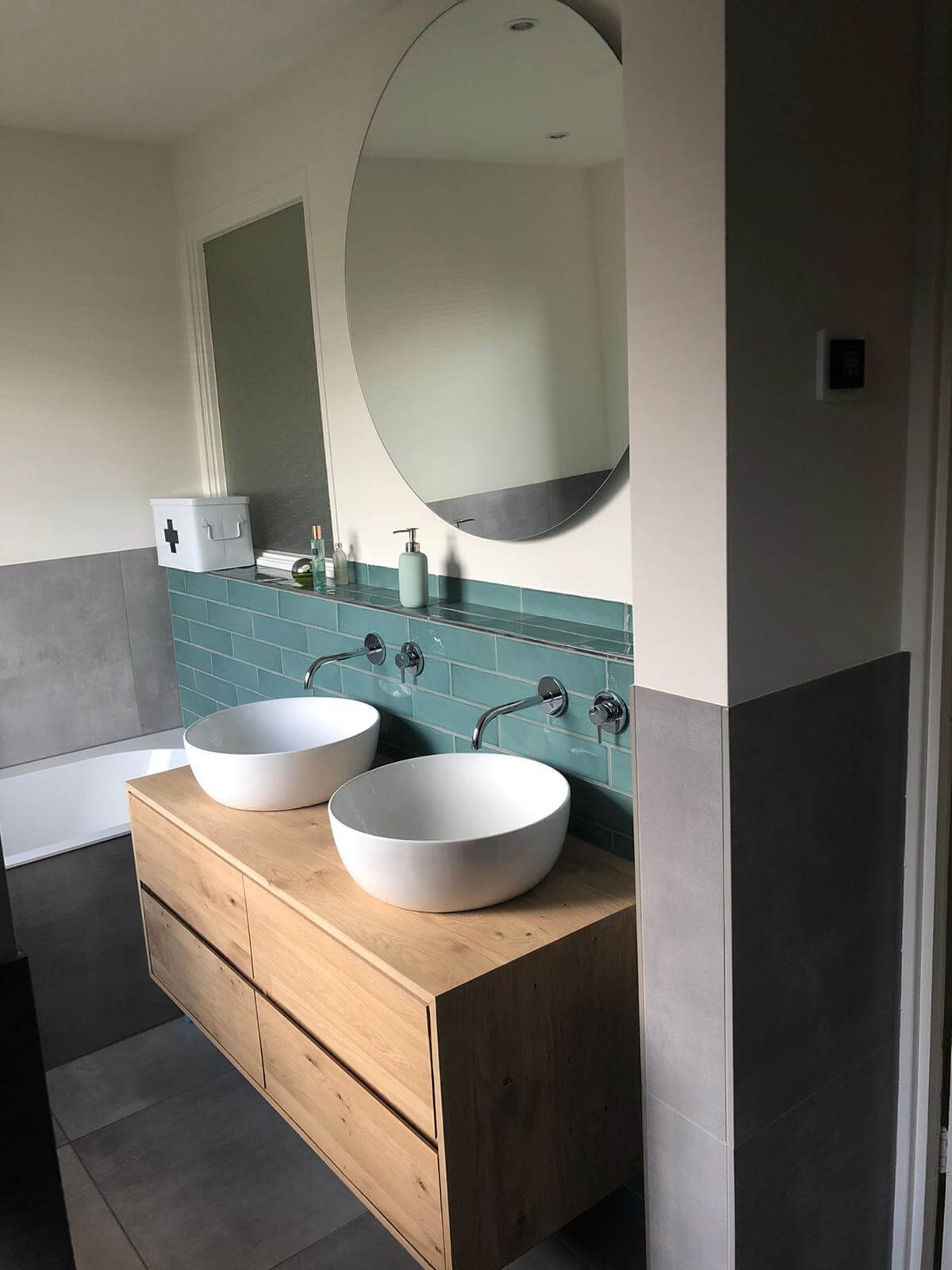 Handgemaakt badkamermeubel brederostraat Zwolle